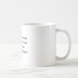Männer machen selten Durchläufe Kaffeetasse