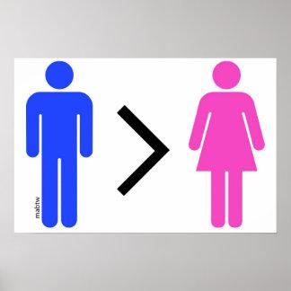 Männer sind besser als Frauen-Plakat Poster