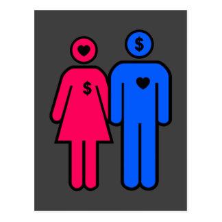 Männer und Frauen Postkarte
