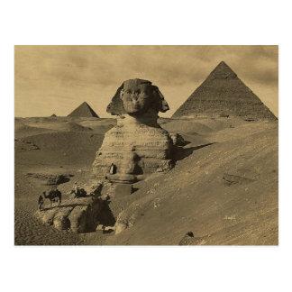 Männer und Kamele auf der Tatze der Sphinxes, Pyra Postkarte