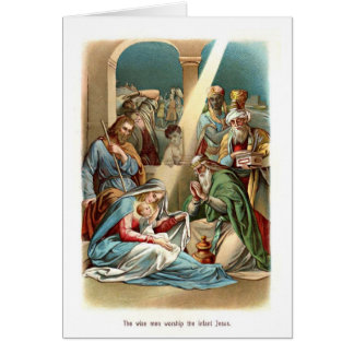 Männers-Anbetung Jesus Karte