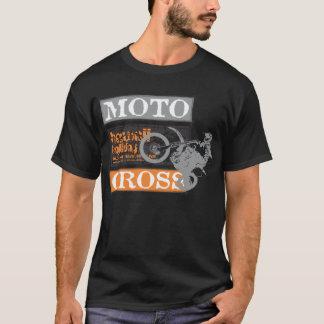 Männerschwarzer Motocross-Hawaii-Feiertag T-Shirt