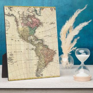 Mannert Karte 1796 des Nordens und des Südamerikas Fotoplatte
