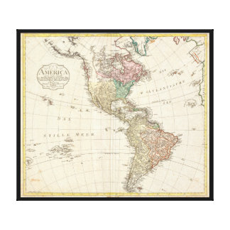 Mannert Karte 1796 des Nordens und des Südamerikas Galerie Gefaltete Leinwand