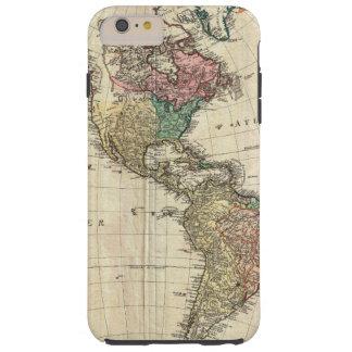 Mannert Karte 1796 des Nordens und des Südamerikas Tough iPhone 6 Plus Hülle