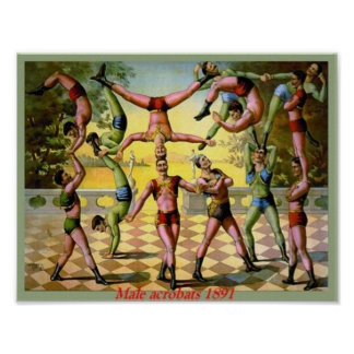 Männliche Akrobaten Poster
