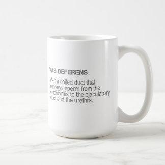 Männliche Anatomie - Vas Deferens Kaffeetasse