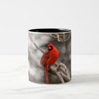 Männliche Kardinals-Tasse Zweifarbige Tasse