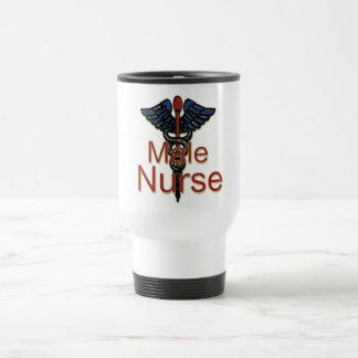 Männliche Krankenschwester mit Caduceus Tasse