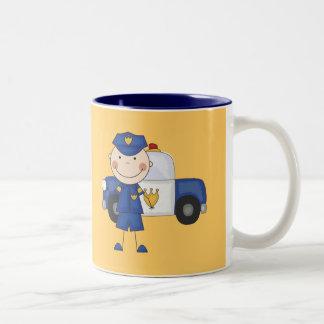 Männliche Polizeibeamte-T-Shirts und Geschenke Tasse