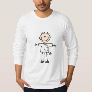Männliche Strichmännchen-Krankenschwester-T-Shirts T-Shirt