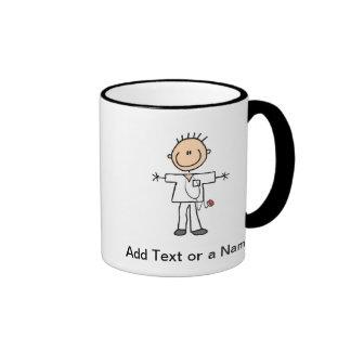 Männliche Strichmännchen-Krankenschwester-T-Shirts Kaffee Tassen