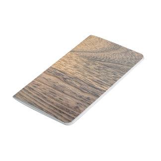 Männlicher beunruhigter Hickorybraun Woodgrain Taschennotizbuch