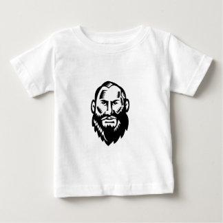 Männlicher großer Bart-Holzschnitt Baby T-shirt