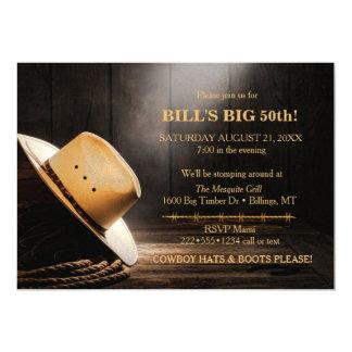Männlicher rustikaler Cowboyhut-Seil-Holz-Western Karte