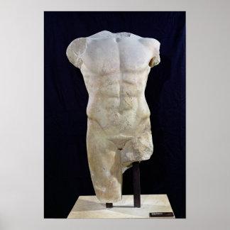 Männlicher Torso von Miletus, c.480 BC Poster