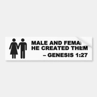 Männlicher und weiblicher Generator-1:27 Autoaufkleber