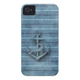 Männlicher Vintager nobler nautischanker Case-Mate iPhone 4 Hülle