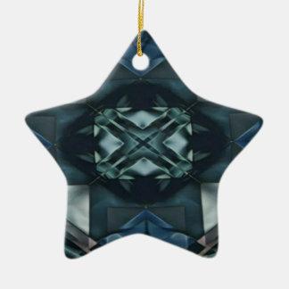 Männliches blaues einfarbiges Muster Keramik Ornament