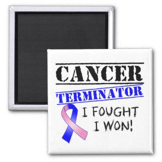 Männliches Brustkrebs-Abschlussprogramm Quadratischer Magnet