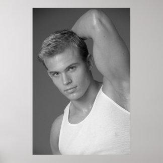 Männliches Fitness-Modell-Plakat #9878 Poster