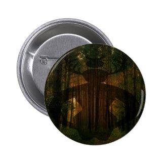 Männliches Hexe-Symbol Runder Button 5,7 Cm