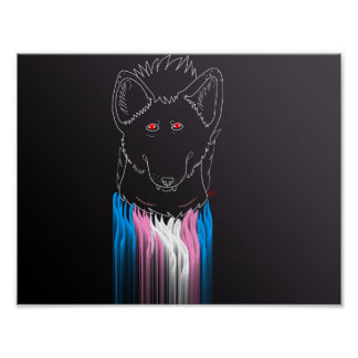 Männliches Hyänenplakat Transportes Poster