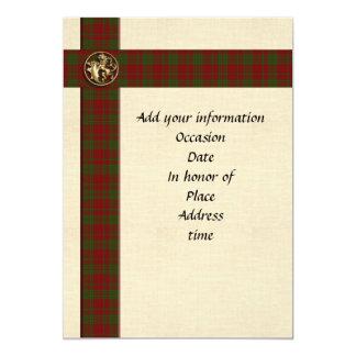 Männliches schottisches kariertes der 12,7 x 17,8 cm einladungskarte