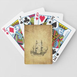 Männliches Vintages nobles altes nautischschiff Bicycle Spielkarten