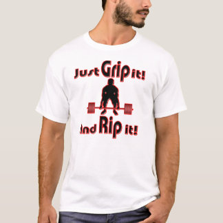 Manns-Griff zerreißt es und ihn T-Shirt