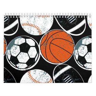 Mannschaftssportbälle Wandkalender