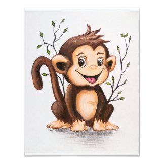 Manny der Affe 10,8 X 14 Cm Einladungskarte
