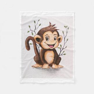 Manny die Affe-Fleece-Decke Fleecedecke