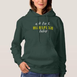 Mansplain neuerer Hoodie (grün/Weiß/Gelb)