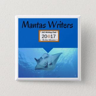 Manta-Button! Quadratischer Button 5,1 Cm