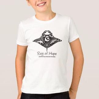 Manta-Strahl Jugend-T - Shirt-Schwarz-des Druckes T-Shirt