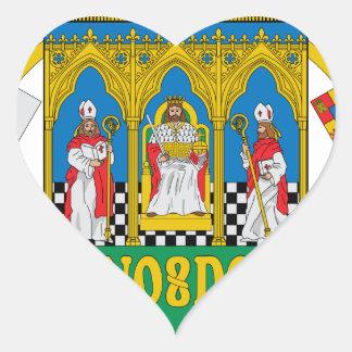 Mantel Sevillas (Spanien) von Arms2 Herz-Aufkleber