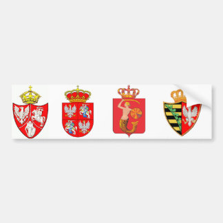 Mantel von Atms des Königreiches von Polen Autoaufkleber