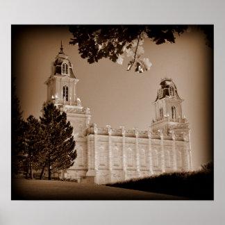 Manti, Tempel Utahs LDS Poster