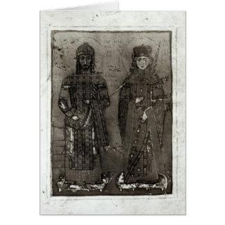 Manuel I Comnenus und Kaiserin Maria von Antioch Karte