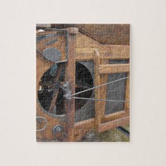 Manuelle Maschine benutzt zur Muschel der Mais Puzzle