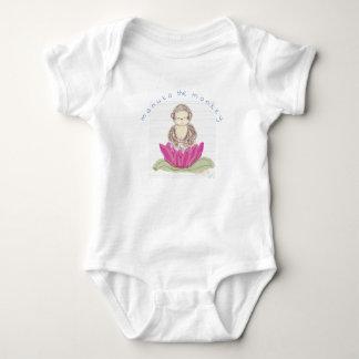 manuka der Affe - Baby-Shirt für Neugeborene Baby Strampler