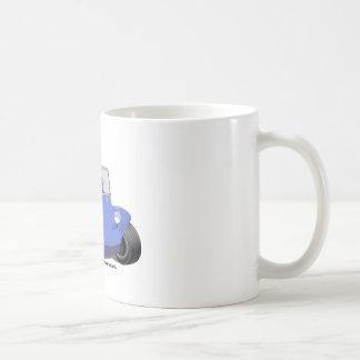 Manx Blau mit Surfbrett Kaffeetasse