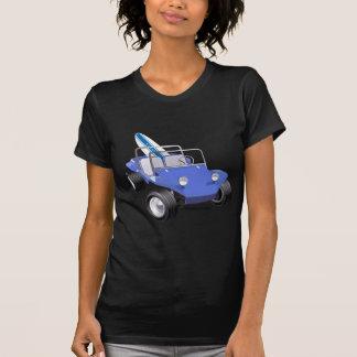 Manx Blau mit Surfbrett T-Shirt