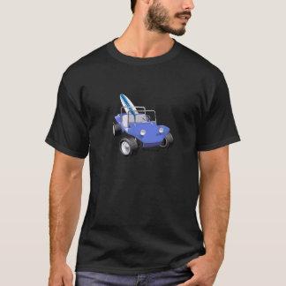 Manx blaues Surfbrett T-Shirt