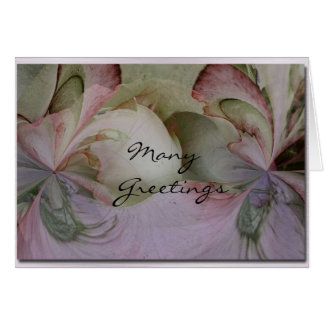Many Greetings Card
