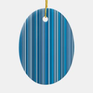 Many multi colored stripes in the blue... keramik ornament