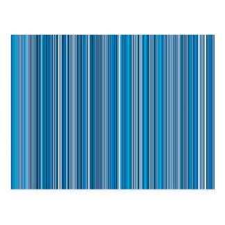 Many multi colored stripes in the blue... postkarte