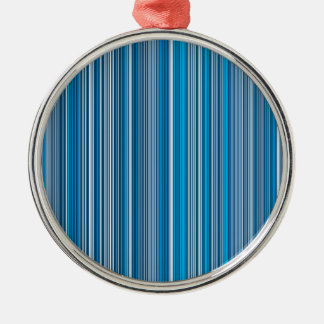 Many multi colored stripes in the blue... silbernes ornament