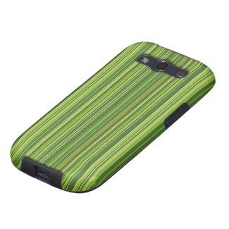 Viele bunte Streifen im grünen Muster Galaxy S3 Hülle